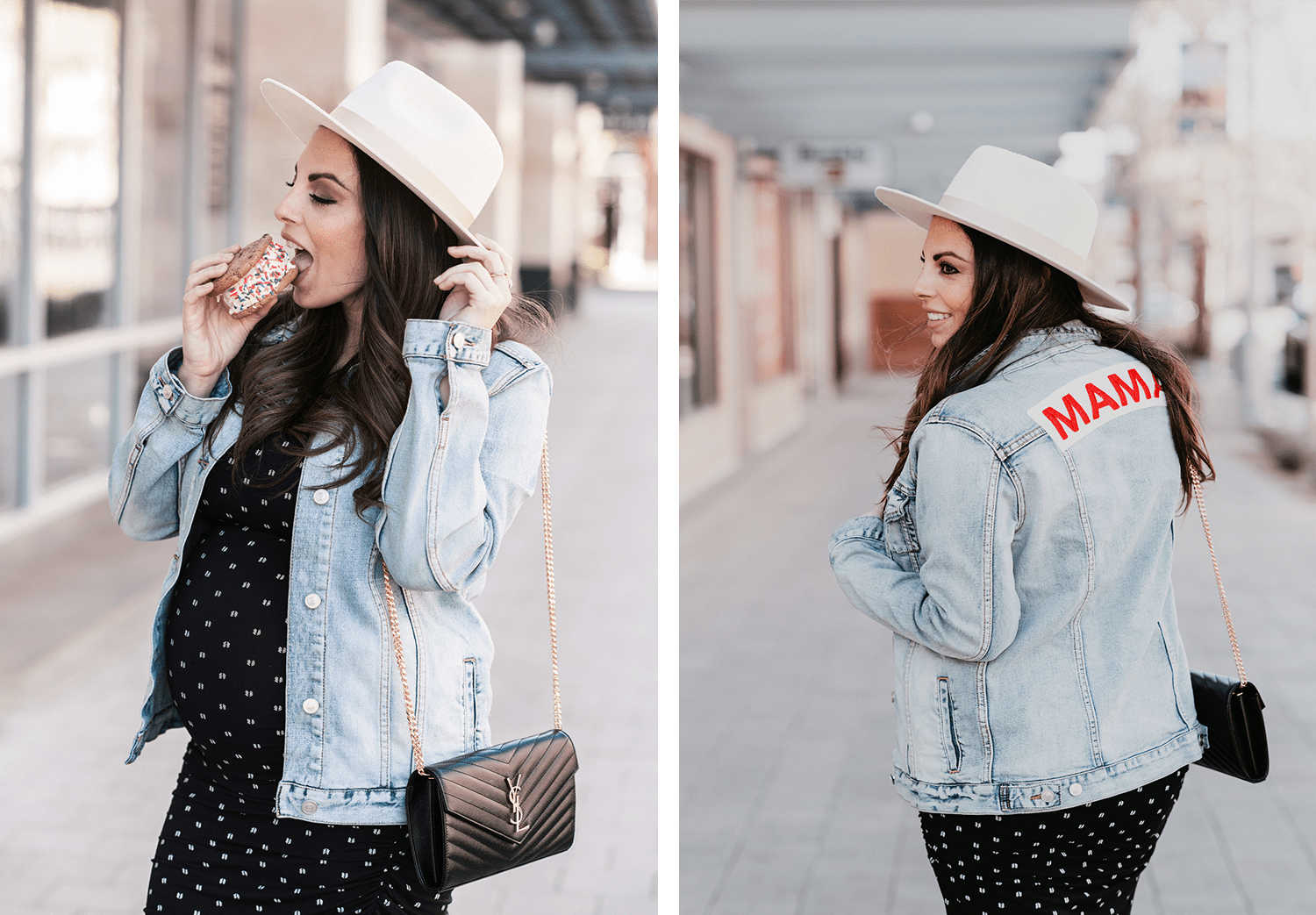 0e7a35ef50b72 Today, the OOTD is from the lovely Alexandra from the blog All things  refined! We're obsessed with her denim jacket from Ingrid & Isabel!
